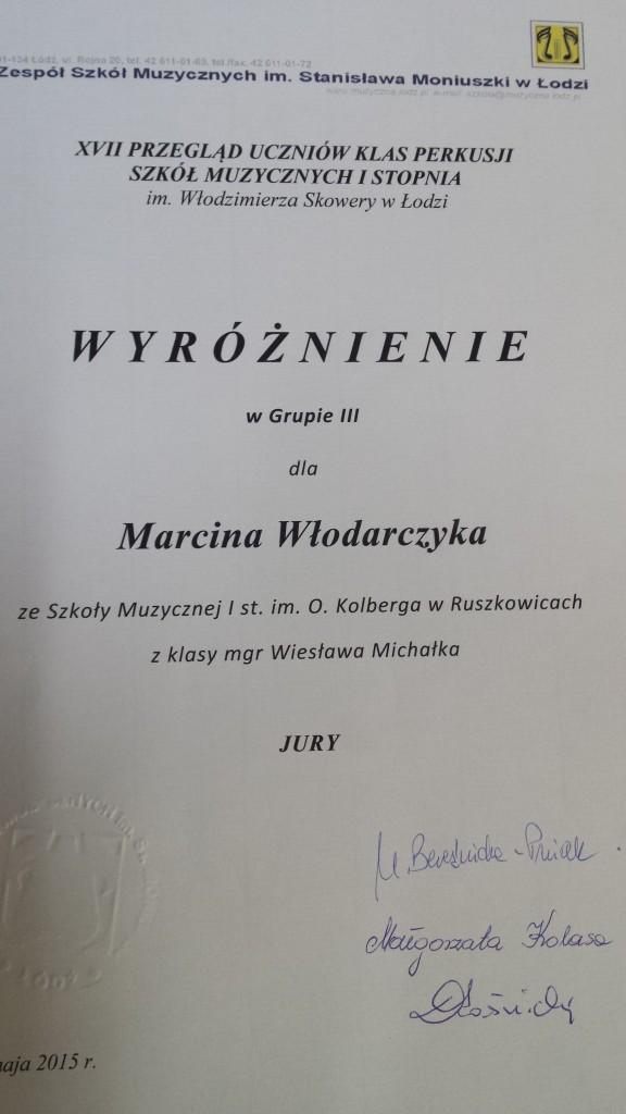 dyplom Włodarczyk