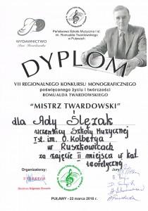 dyplom Ada Ślęzak
